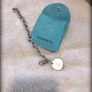 """Tiffany and Co letter """"S"""" Charm Bracelet"""